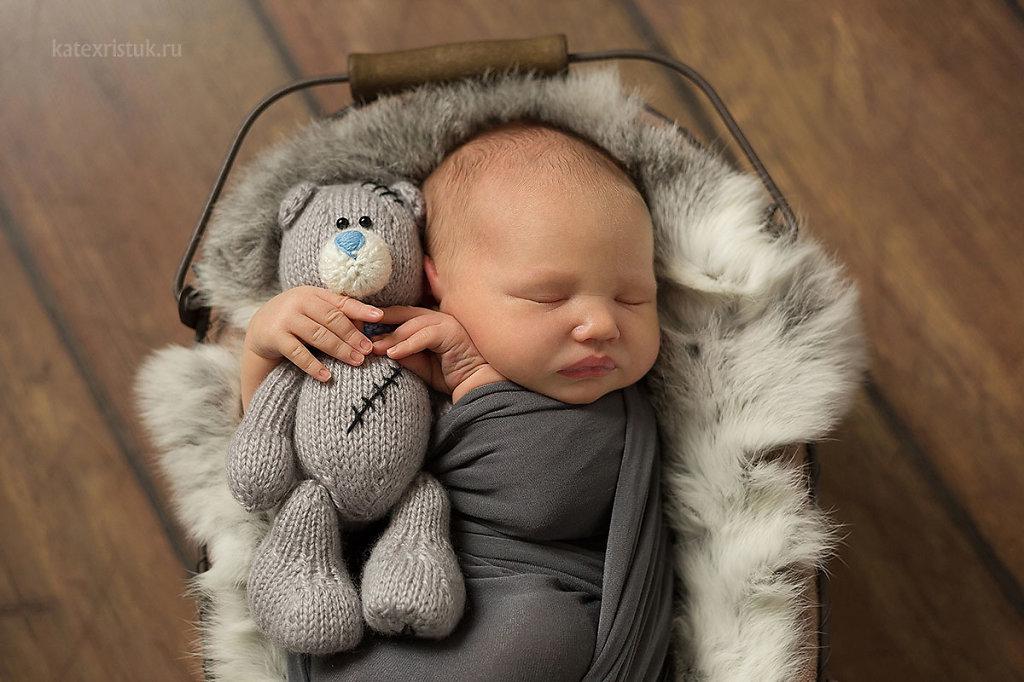 Фотосессия новорожденного в Москве для мальчика