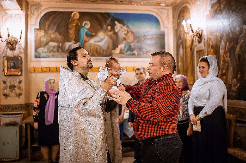Крещение Миши в Тропарёве