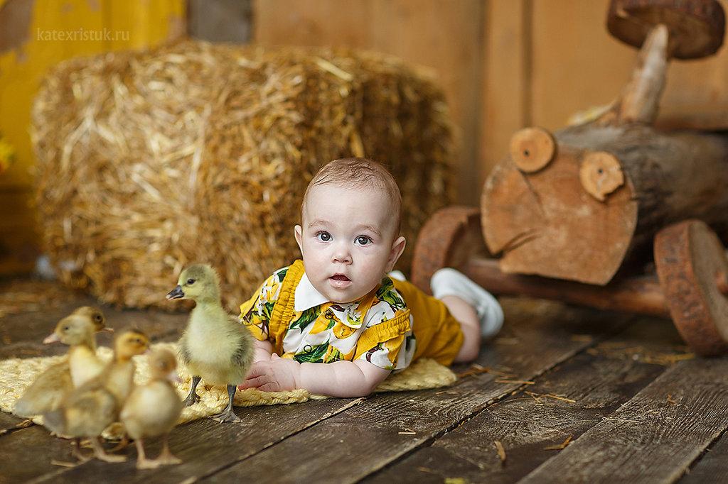 Детская фотосессия с утятами